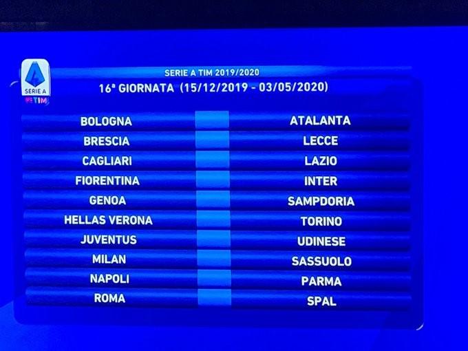Calendario Serie B 2020 17.Liveblog Serie A 2019 20 Fixture List Football Italia